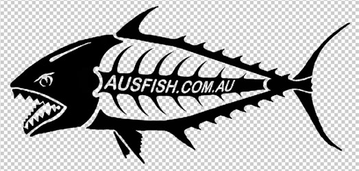 Single ausfish logo sticker